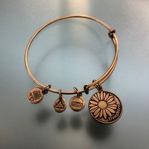 Alex and Ani gold daughter/flower charm bracelet
